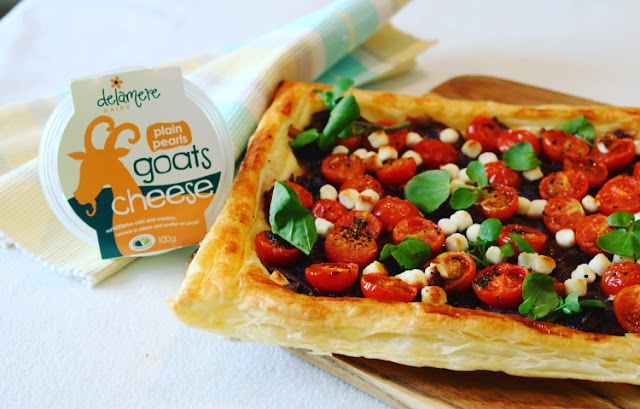 Tomato, Thyme, Caramelised Onion & Goat's Cheese Pearl Tart