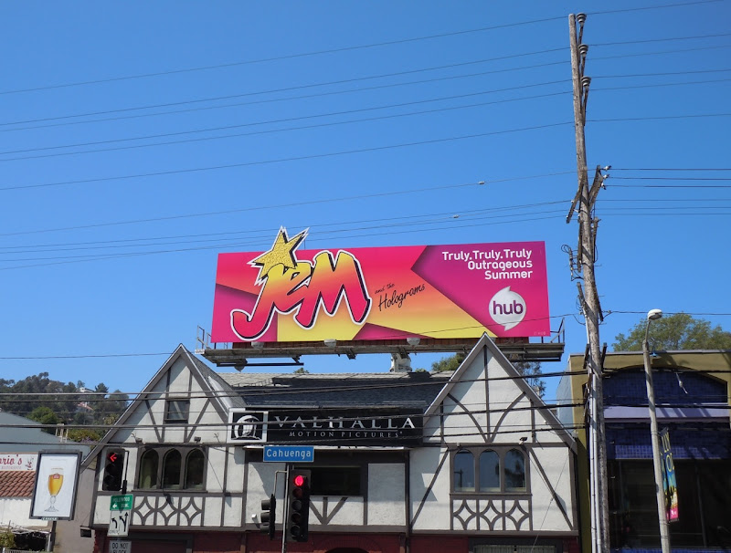 Jem and the Holograms cartoon billboard