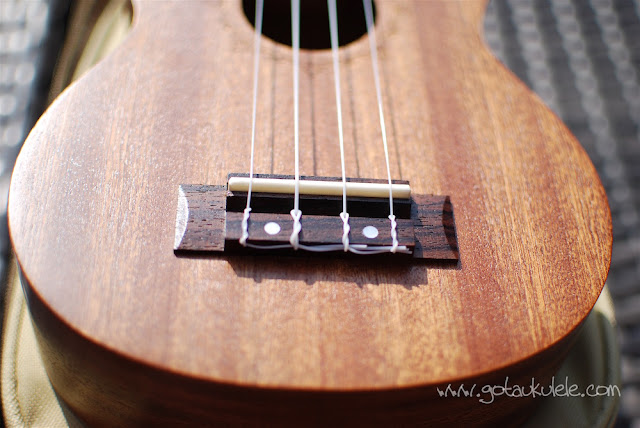 Flight NUS310 Soprano Ukulele bridge