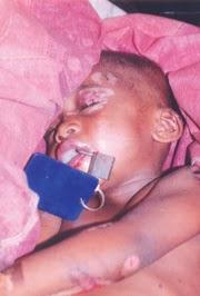 father padlocks child mouth