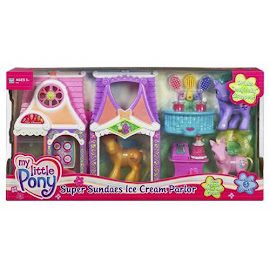My Little Pony Butterscotch Building Playsets Super Sundae Ice Cream Parlor G3 Pony