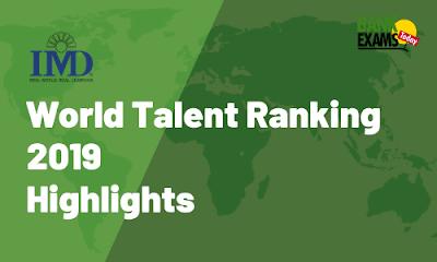 World Talent Ranking 2019: Highlights