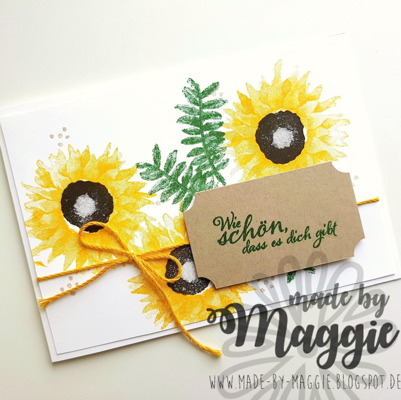 made by M@ggie: Sonnenblumen