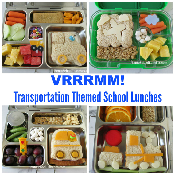 4 Transportation Themed Lunches