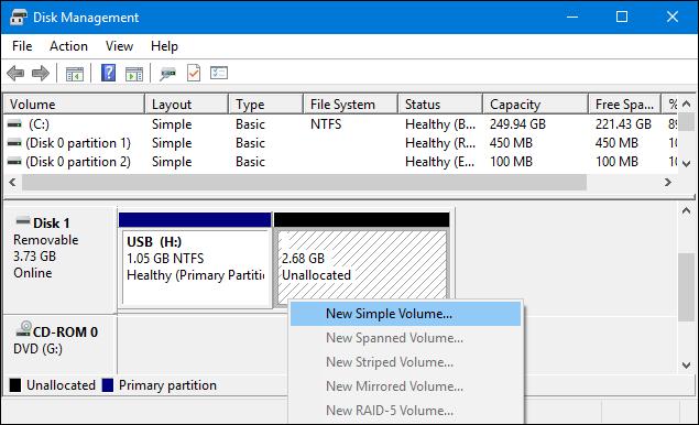 كيفية تقسيم الفلاشة لأكثر من بارتيشن بدون برامج 6.PNG
