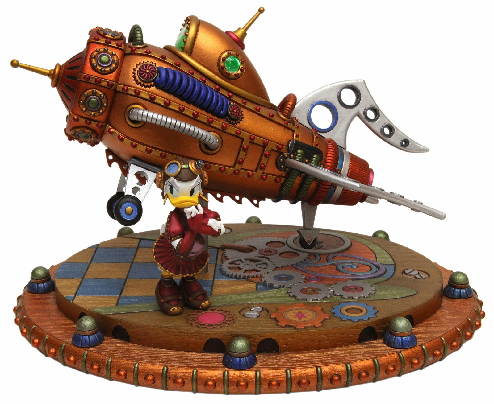 Daisy Duck Rocket Steampunk Gears Mechanical Kingdom Walt Disney World Disneyland statue figure figurine