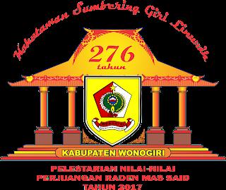 logo hari jadi kabupaten wonogiri tahun 2017