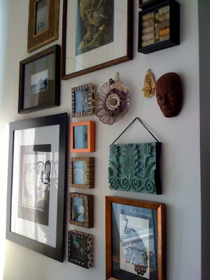 shadowbox, art, DIY, gallery wall, bohemian
