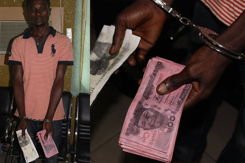 So this one photocopied naira notes and went to deposit it in bank