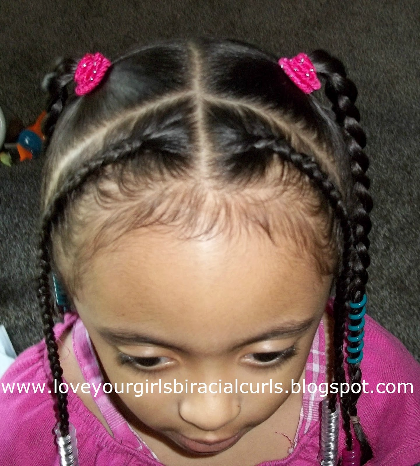 Groovy Love Your Girls Biracial Curls Cornrows Criss Crossed Ponies And Hairstyles For Men Maxibearus