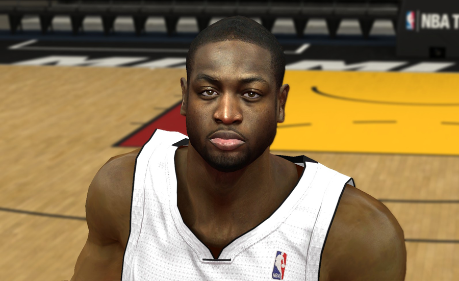 NBA 2K14 Real Dwyane Wade Face Mod