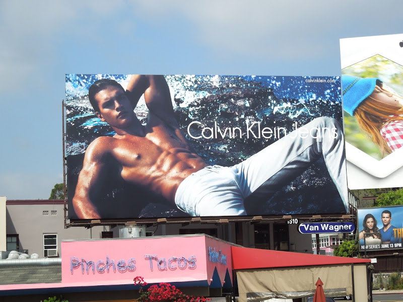 Calvin Klein Jeans six pack billboard