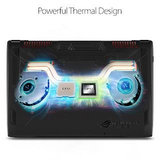 Strix GL72VI Powerful thermal design