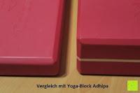 Vergleich Dicke: Yogablock »Damodar« - flach- erhältlich in den Trendfarben: Erdbraun Moosgrün Bordeaux Currygelb Lila - der ideale Yogaklotz aus gehärteten Schaumstoff (Hartschaum)- REACH geprüft (keine Schadstoffe) der Yoga Brick ist ein praktisches Hilfsmittel (Yogazubehör) für eine Vielzahl an Yogaübungen / Asanas : Gesamtgewicht liegt bei ca.180g (schön leicht) / Größe 28cm x 20cm x 5cm