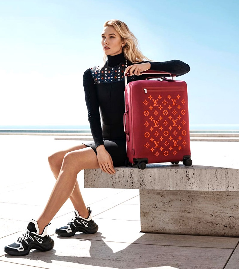 Louis Vuitton showcases new luggage Horizon line with model Karlie Kloss