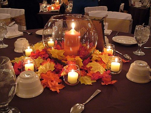 Ideas For Fall Wedding Centerpieces: Wedding Hall Decoration Idea