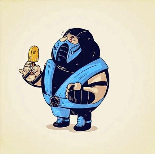 Fat Super Hero Gemuk - Motal KOmbar Sub Zero Fat