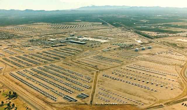 Vista aérea do Maior cemitério de aviões do mundo