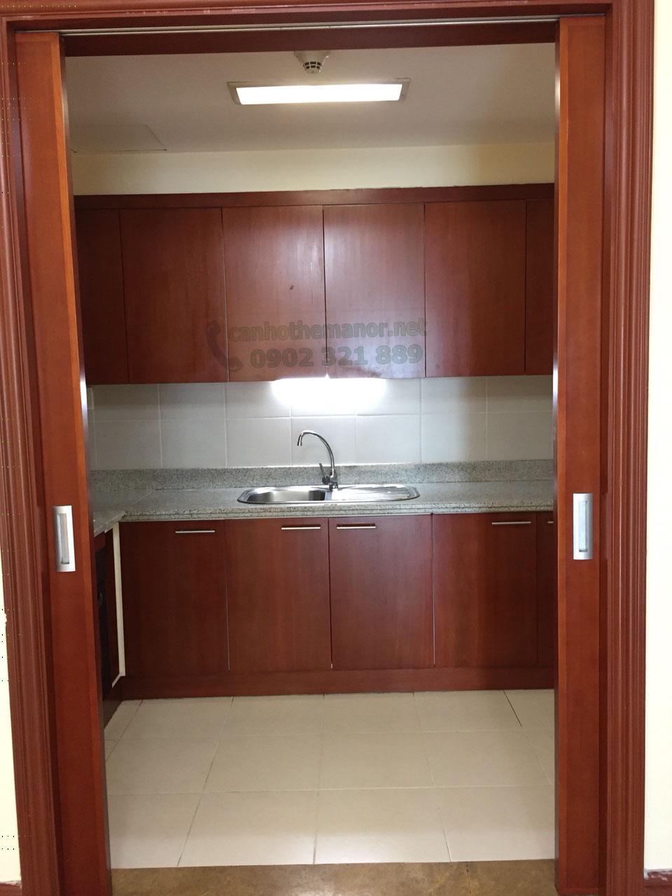 bếp của căn hộ The Manor 139m2 cần cho thuê
