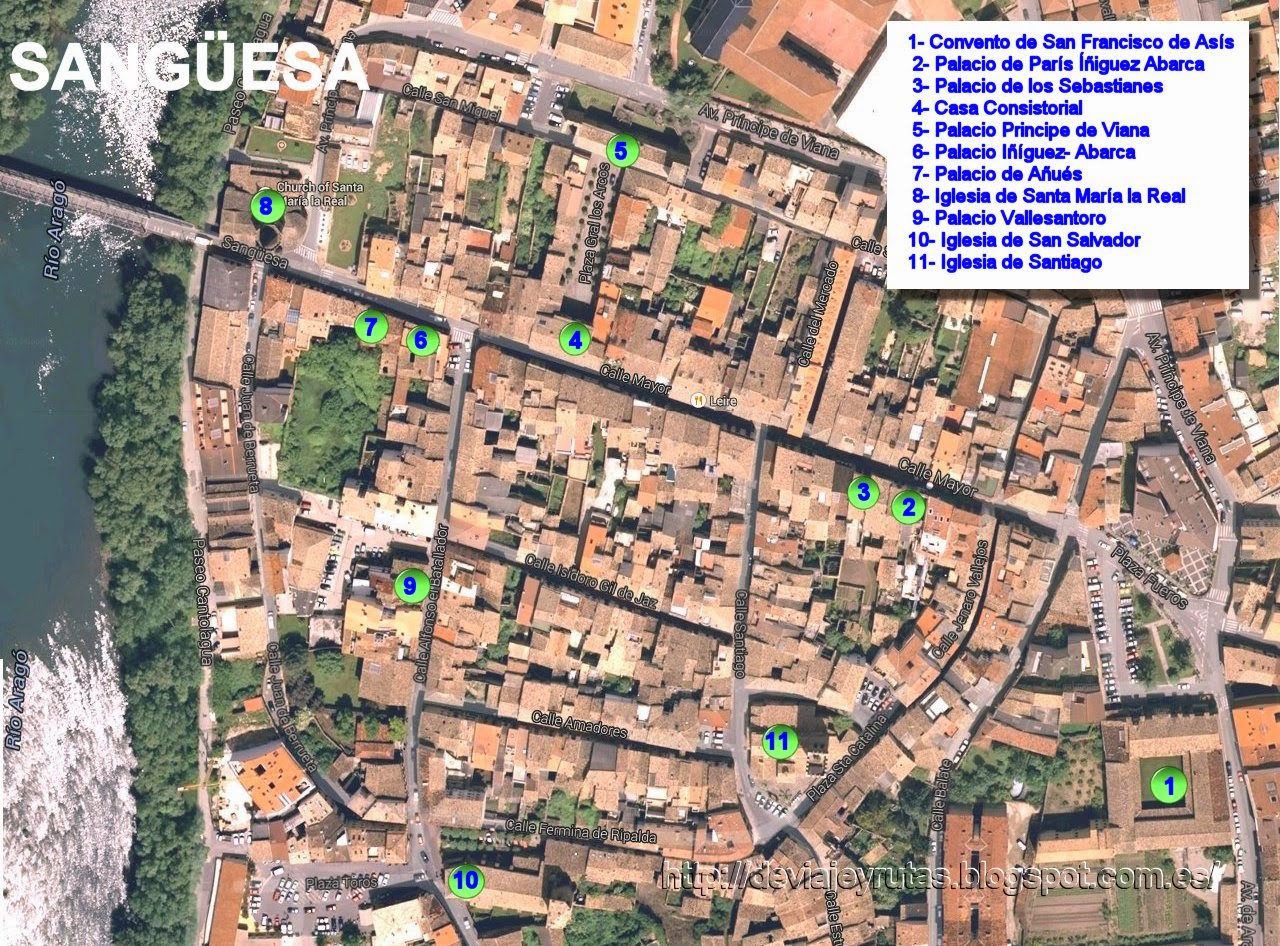 Mapa de Sanguesa