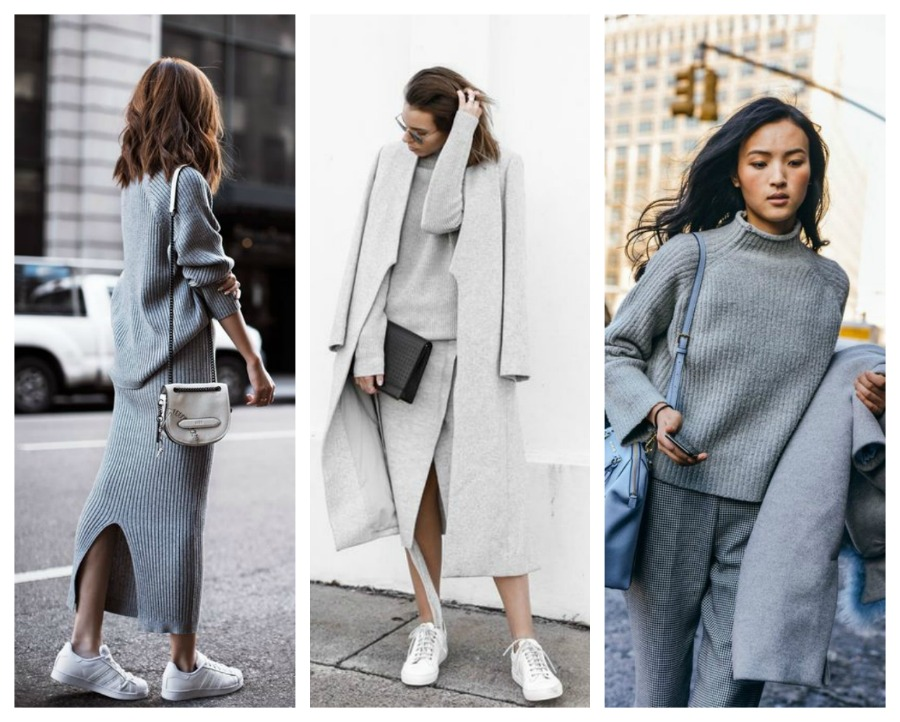 total grey street style