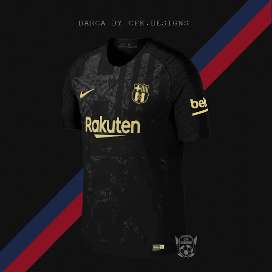 premium selection d4865 ef687 Stunning Black & Gold Barcelona Kit Concept by cfk.designs ...