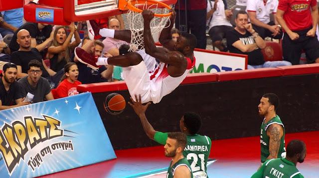 Ολυμπιακός-Παναθηναϊκός 64-62: Τεράστια ανατροπή και ερυθρόλευκο προβάδισμα τίτλου!