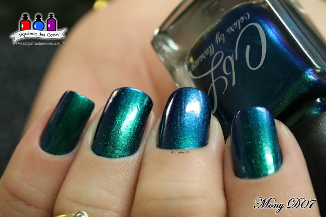 Colors by Llarowe, Emerald Illusion, Starrily, Milky Way, Vasopressin, Azul, Glitter, Holográfico, Roxo, 3D, Multichromo, Verde, Teal, Mony D07, Alquimia das Cores, post triplo