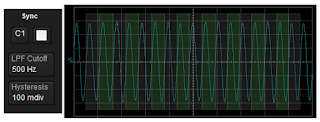 An algorithm determines the signal's measurement period, which is denoted by a highlighted overlay