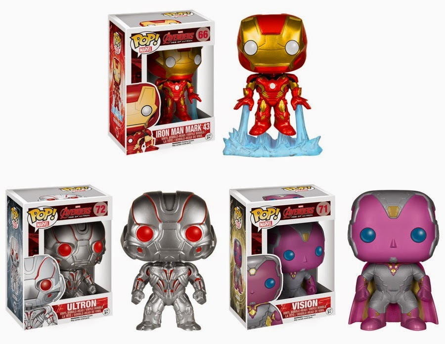 The Avengers Age of Ultron Pop! Marvel Vinyl Figures by Funko - Iron Man, Ultron & The Vision