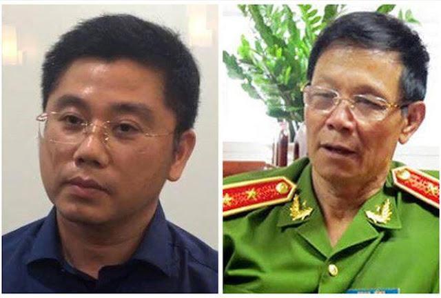 Trùm cờ bạc Nguyễn Văn Dương (trái) khai chi 10 tỷ đồng cho các bữa tiếp khách của tướng Phan Văn Vĩnh