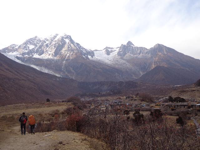 Tourist are trekking to samagaon manaslu trekking Nepal