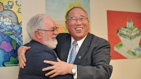 Xie Zhenhua, China's special climate representative and Miguel Arias Cañete (Photo Credit: European Commission) Click to Enlarge.