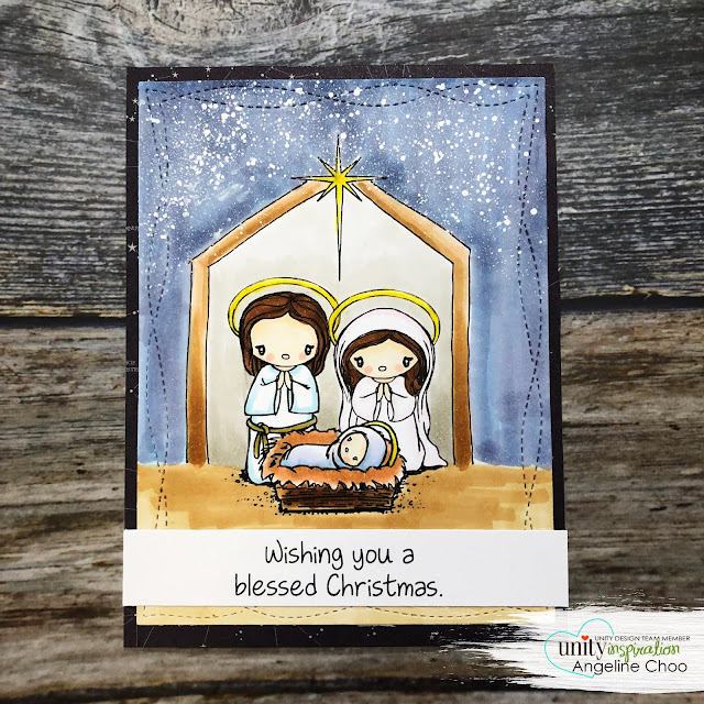 ScrappyScrappy: O Holy Blessed Night #scrappyscrappy #unitystampco #tierrajckson #brownthursday #card #cardmaking #youtube #quicktipvideo #stamp #stamping #papercraft #copicmarkers #kuretake #nativityscene #christmas #christmascard #jesusinamanger #babyjesus #jesus #ginamariedesigns