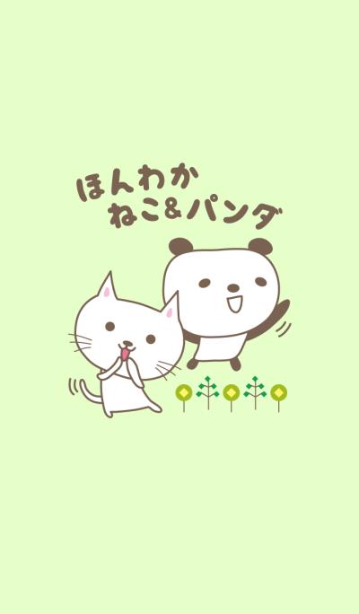 Theme for healing cute cat and panda
