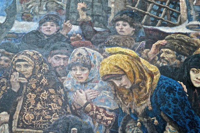 Moscou Galerie Tretiakov :  Vassili Ivanovitch Sourikov; Boyarina  Morozova (détail)