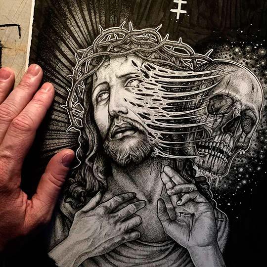 Ilustración, dibujo y tintas de Paul Jackson