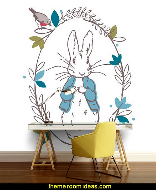 Peter Rabbit Thinking Line Mural