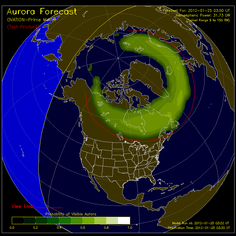 Map Northern Lights Visibility