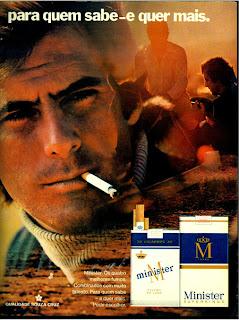 propaganda cigarros Minister anos 70; propaganda anos 70; história decada de 70; reclame anos 70; propaganda cigarros anos 70; Brazil in the 70s; Oswaldo Hernandez;