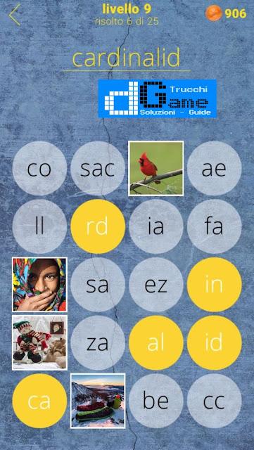 650 Parole soluzione livello 9 (1 - 25) | Parola e foto