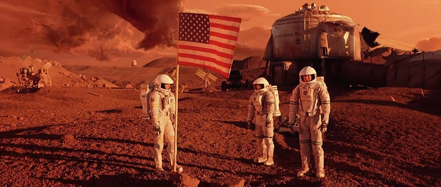 Planting US flag on Mars - Mission to Mars movie image