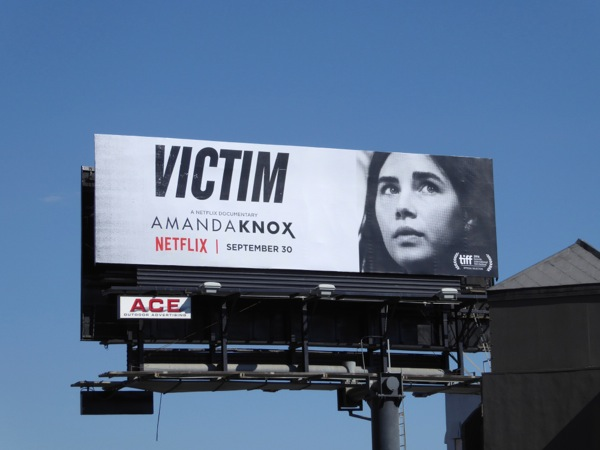 Amanda Knox documentary Victim billboard