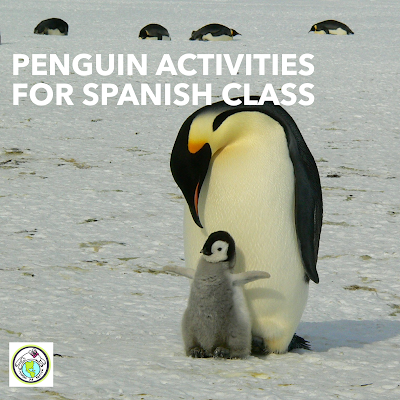 Penguin Activities for FLES Elementary Spanish for Kids