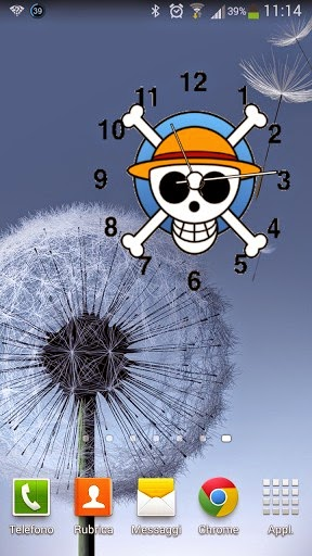 Clock Widget Anime One Piece