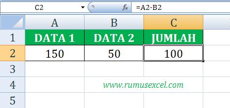 Rumus Pengurangan di Excel