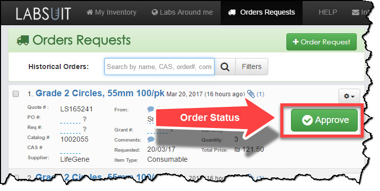 LabSuit Support: As a lab manager, how do I update order