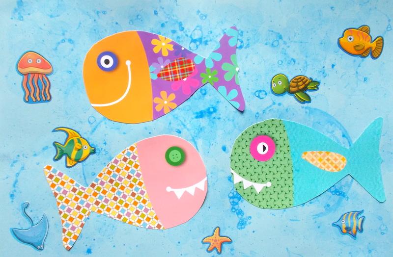 Mademoiselle-Coralie: Bricolage poissons d'avril {peinture à bulles}