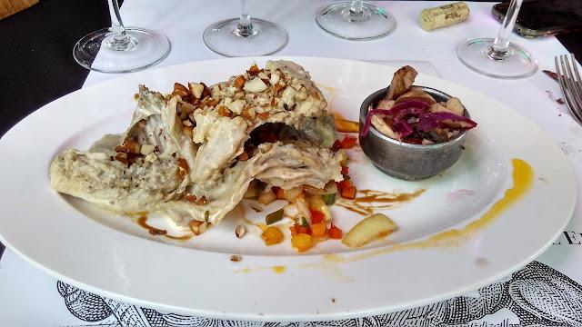 Pato, um prato principal na vinícola El Enemigo, em Mendoza, Argentina.