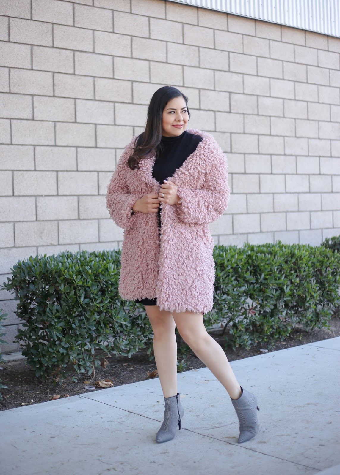 how to style a teddy bear coat, san diego fashion blogger winter edition